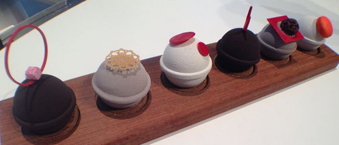 surtido de mini gelatos del equipo español en la Copa del Mundo de Heladería
