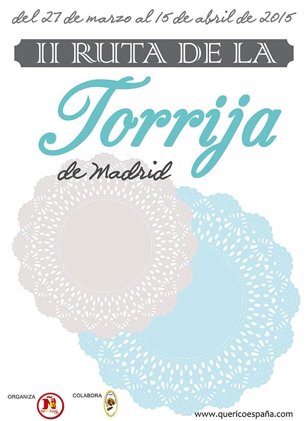 Cartel II Ruta de la Torrija de Madrid