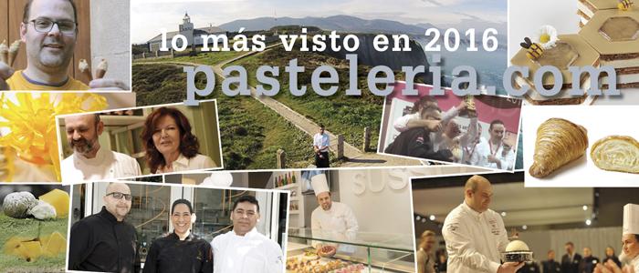 Collage con imágenes de lo más visto en 2016 en Pasteleria.com