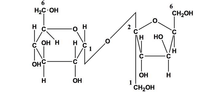 Estructura de la sacarosa
