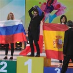El podio final en el China World Skills