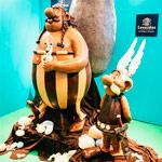 Astérix y Obélix en chocolate