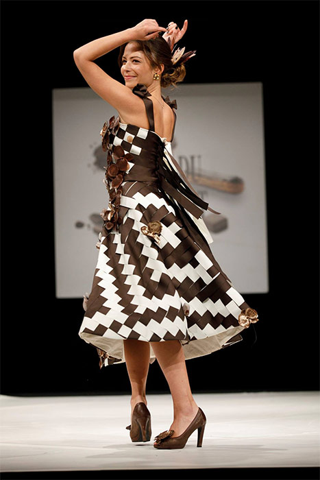 vestido chocolate Salon du Chocolat 2017