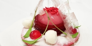 Imagen de Mochi, kimchi, petit suisse y caramelo de granada mollar de David Morillas
