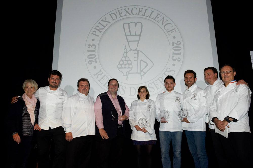 foto de familia en los Prix d'Excellence de Realis Dessert