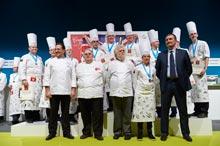 Podium de la Copa Europea de Pastelería