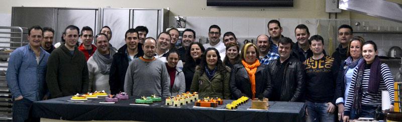 Foto final del curso de Hans Ovando en Obradoiro Gascón