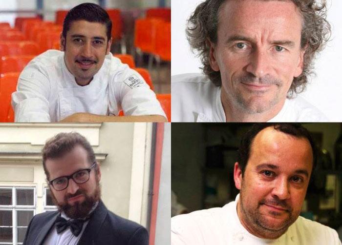 Hans Ovando, Yann Duytsche, Josef Marsalek y Carles Mampel