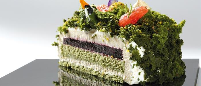 tarta de te verde y cassis de Jose Manuel Samper