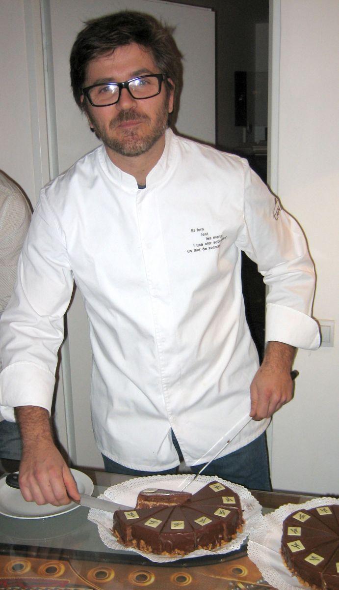 Lluís Estrada presenta tarta Guinovart