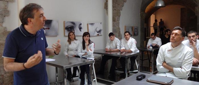 Alberto Ruiz durante el curso