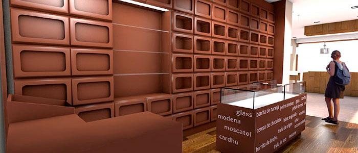 Zona tienda Chocolatería valor