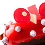 tarta glaseada en rojo