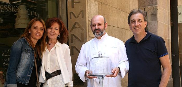 De izquierda a derecha, Esther Vila (Grupo Vilbo), Mey Hofmann, Eric Ortuño y Alberto Ruiz (Dulcypas)