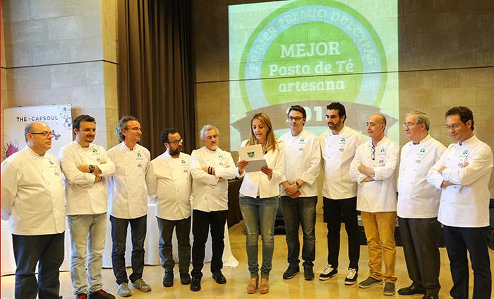 El Jurado en el momento de la entrega del 1er Premio Dulcypas a la Mejor Pasta de Té Artesana de España