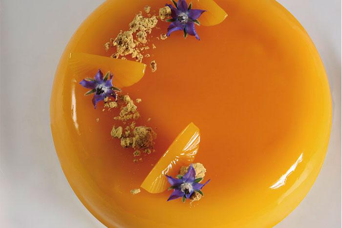 Tarta sol de mango y pasión de Xavi Donnay
