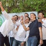 Selfie jurado premio pasta de té Dulcypas