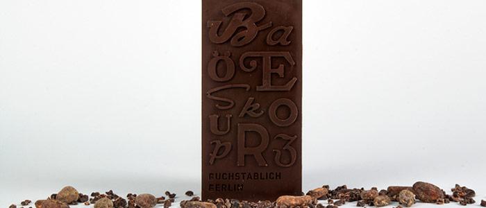 chocolate tipográfico