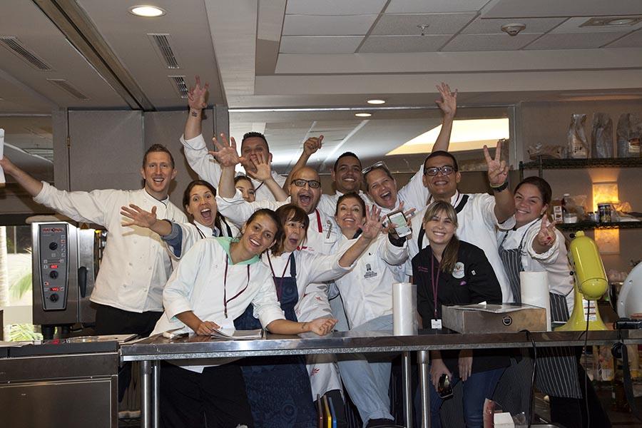 la feliz foto del final del workshop