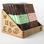 packaging chocolate tipográfico