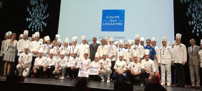 Todos los participantes al completo de la Copa Europea de Panadería Louis Lesaffre