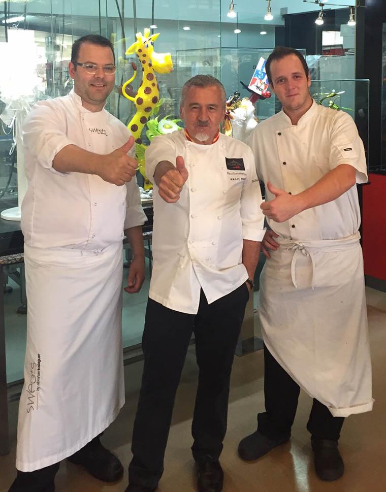 Abraham Balaguer, Paco Torreblanca y Markus Kunz durante sus entrenamientos