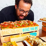 Carles Mampel con buffet salado