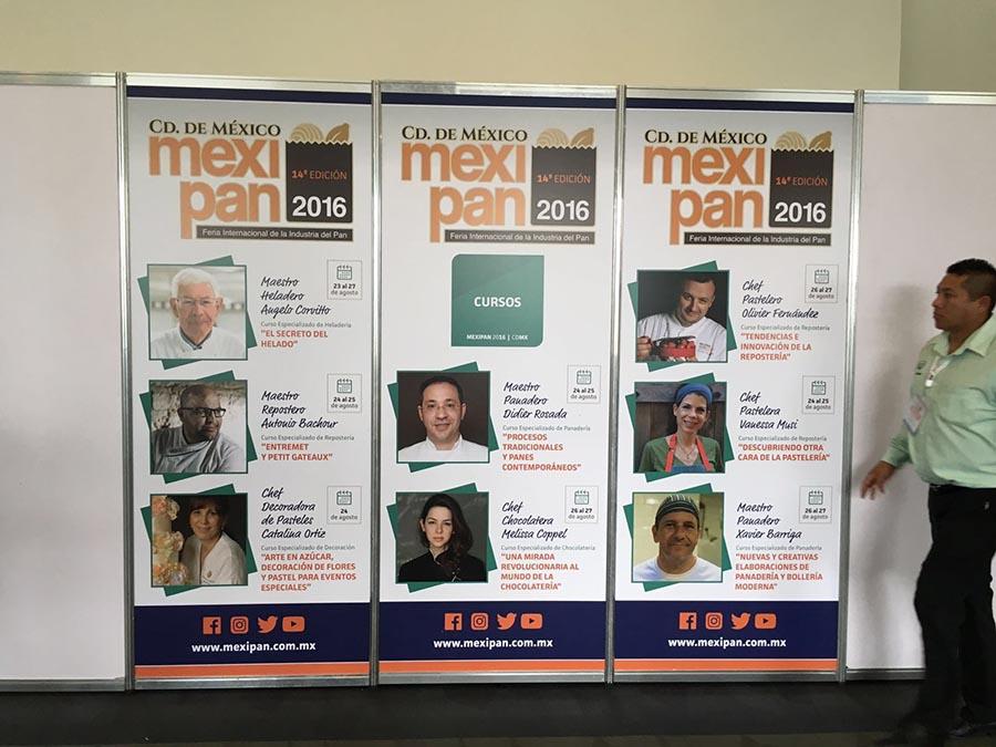 Cartel anunciando protagonistas de los talleres de este Mexipan 2016