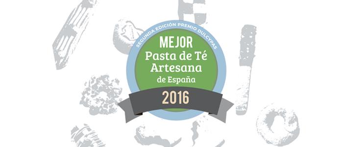 imagen de la edición 2016 del Premio Dulcypas a la Mejor Pasta de Té de España