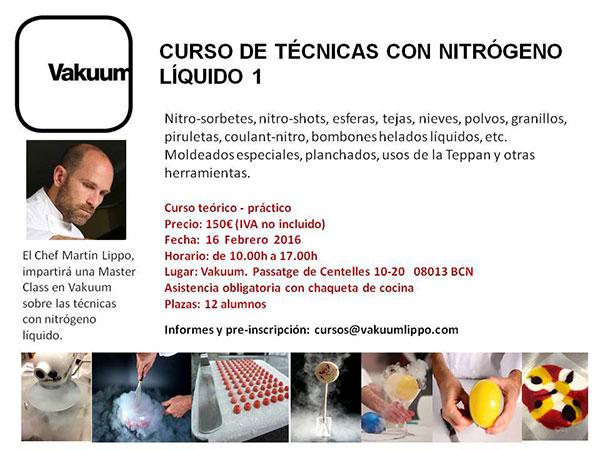 curso Lippo sobre nitrógeno líquido