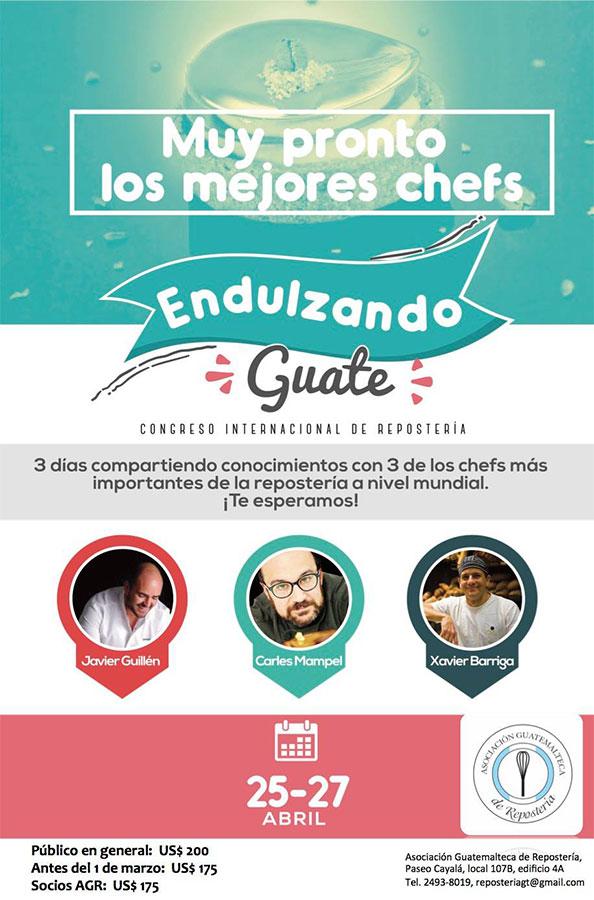 """Cartel Congreso """"Endulzando Guate"""""""