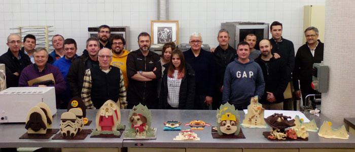 demostración monas Pascua Claudi Uñó en Lleida