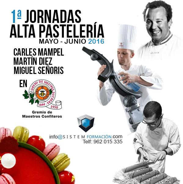 Cartel Jornadas de alta pastelería en Valencia