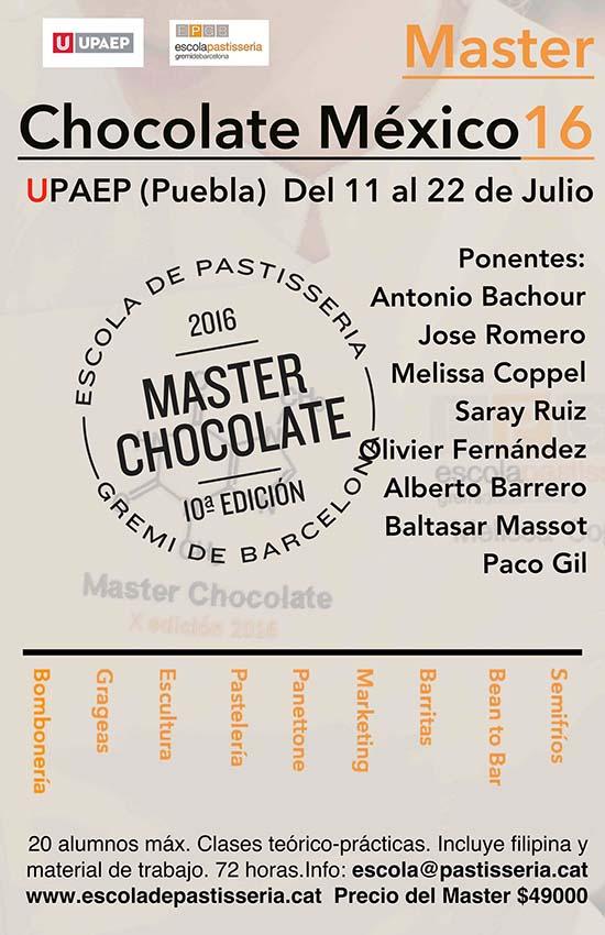 El cartel de la próxima edición del Master de Chocolate de la EPGB
