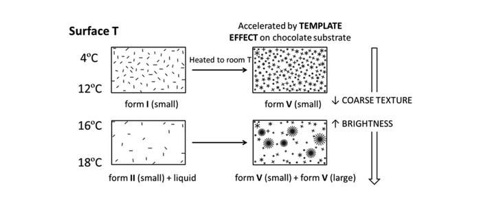 esquema de la formación de cristales
