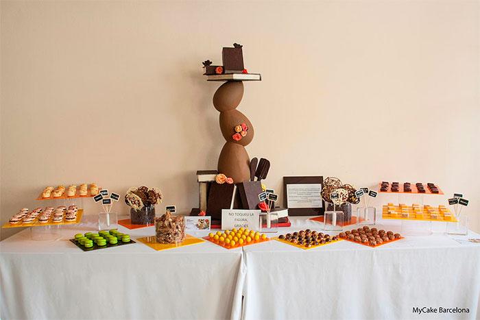 bufet de chocolate de escuela de Sant Ignasi