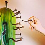 cactus de pieza artística de Saray Ruiz