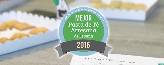 Segunda Edición Premio Dulcypas a la Mejor Pasta de Té Artesana de España
