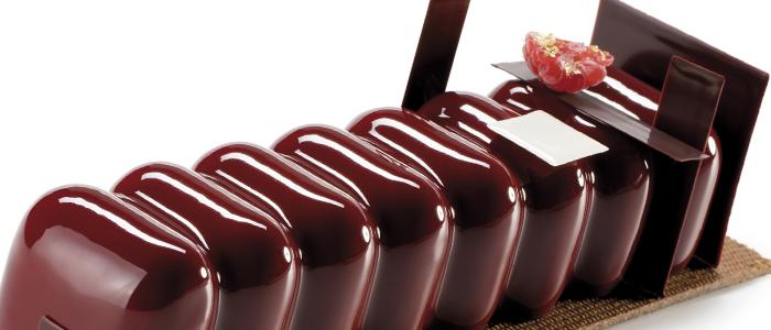 Tronco de frambuesa, chocolate, violeta y mascarpone de Josep Maria Ribé