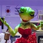 Las ranas jazz de Japón en su buffet