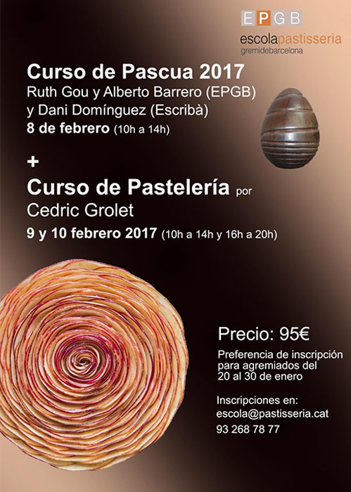 cartel cursos pascua y grolet en EPGB