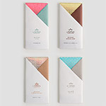 Cuatro chocolates Utopick con packaging Lavernia