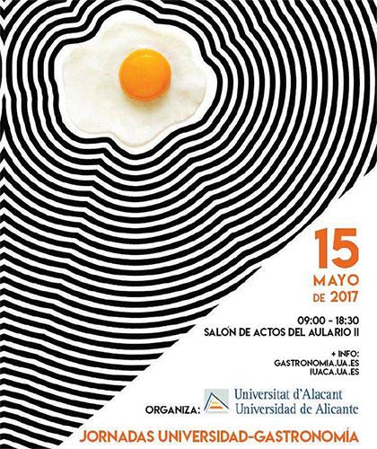 cartel jornada gastronomía UA