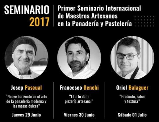 Cartel del seminario de Oriol Balaguer, Josep Pascual y Francesco Genchi en Arte Bianca