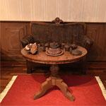 mesa oval de la habitación de chocolate de Gherard Petzl