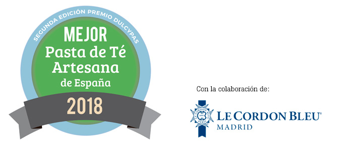 Logo Mejor Pasta de Té Artesana de España 2018