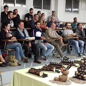alumnos demo Lluís Costa en Gremi Pastisseria Lleida