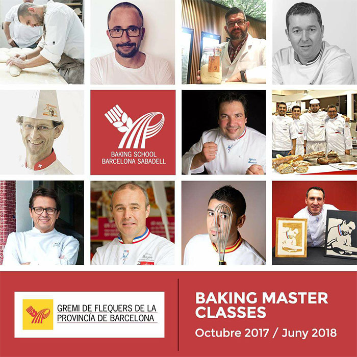 cartel cursos Baking School Barcelona Sabadell