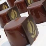 El postre dedicado a Granada con chocolate de la isla de granada, bizcocho de aceiet de oliva, miel de la Alpujarra e interior de granada