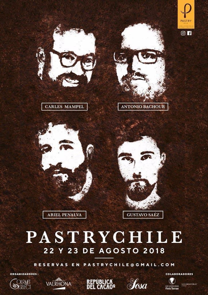 Cartel oficial del congreso Pastry Chile 2018